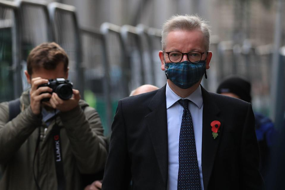 """Cabinet Office minister Michael Gove has travelled to Israel to study the country's """"green pass"""" coronavirus vaccine passport system (Aaron Chown/PA)"""