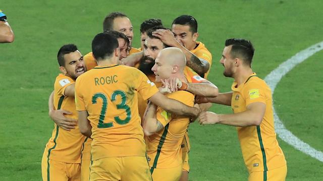 After a goalless draw in the first leg, the Socceroos know a victory will be enough to secure their place at the 2018 World Cup - follow it LIVE!