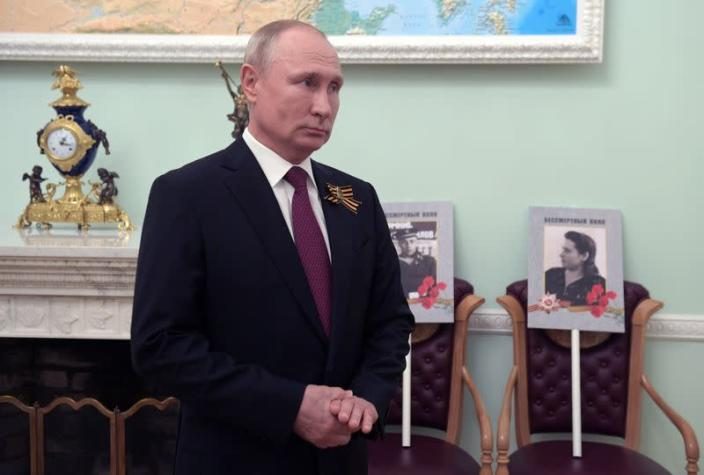 Russian President Putin addresses participants of Immortal Regiment memorial event on Victory Day in Moscow