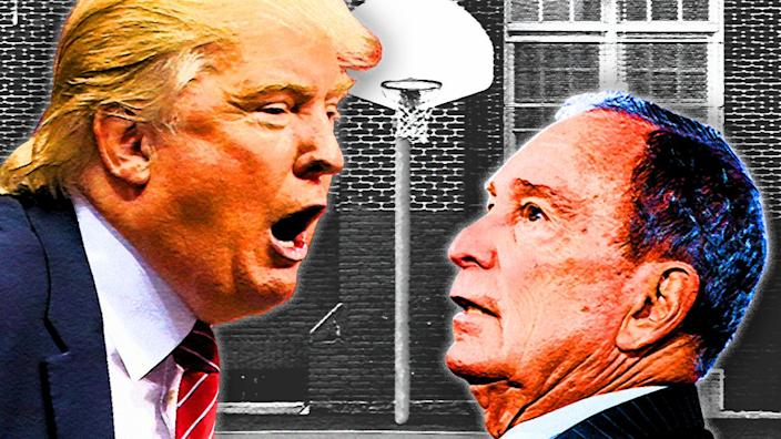 President Trump and former Mayor Michael Bloomberg. (Photo illustration: Yahoo News; photos: AP, Cengiz Yar/Getty Images, Getty Images)
