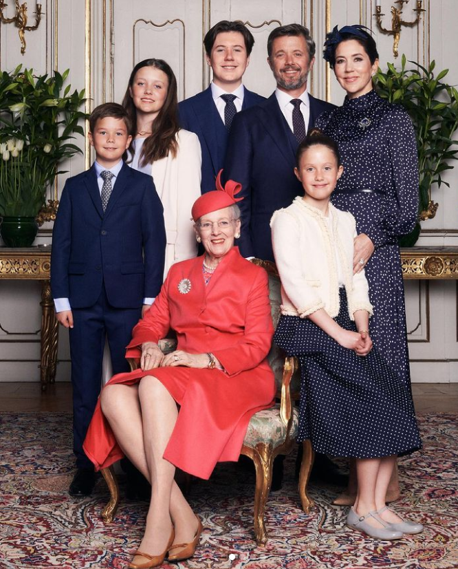 <p>Christian was joined by his siblings Prince Vincent, and Princesses Isabella and Josephine, as well as Queen Margrethe, at Fredensborg Palace Church. Photo: Instagram/detdanskekongehus</p>