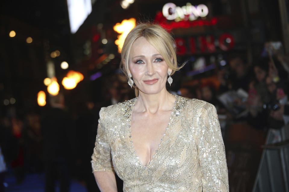 <p>Author J.K. Rowling poses for photographers upon arrival at the premiere of the film 'Fantastic Beasts And Where To Find Them' in London, Tuesday, Nov. 15, 2016. (Photo by Joel Ryan/Invision/AP)</p>