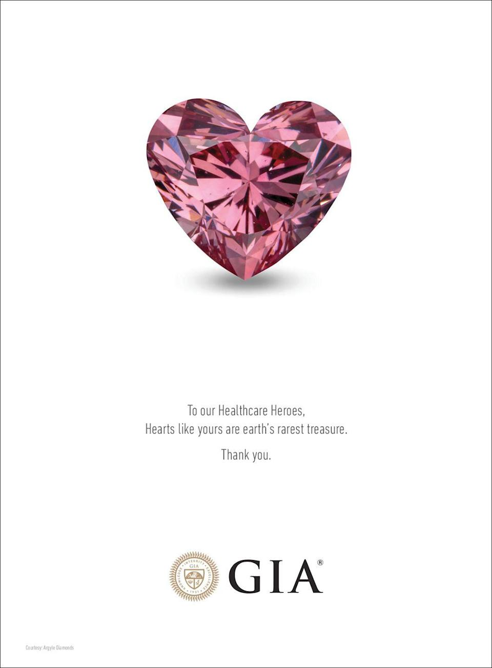 <p>To our Healthcare Heroes,</p><p>Hearts like yours are earth's rarest treasure.</p><p>Thank you.</p>
