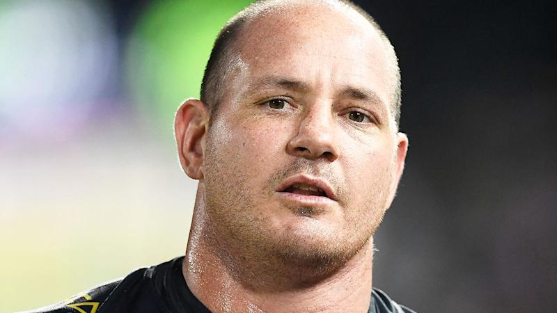 Pictured here, NRL great Matt Scott, who retired in 2019 after suffering a stroke.