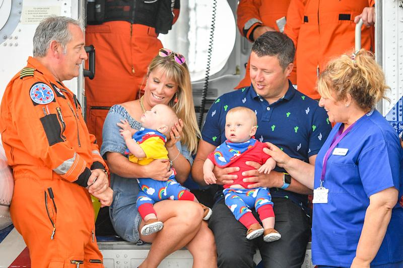 Jennie and Rich Powell meet HM Coastguard (PA)