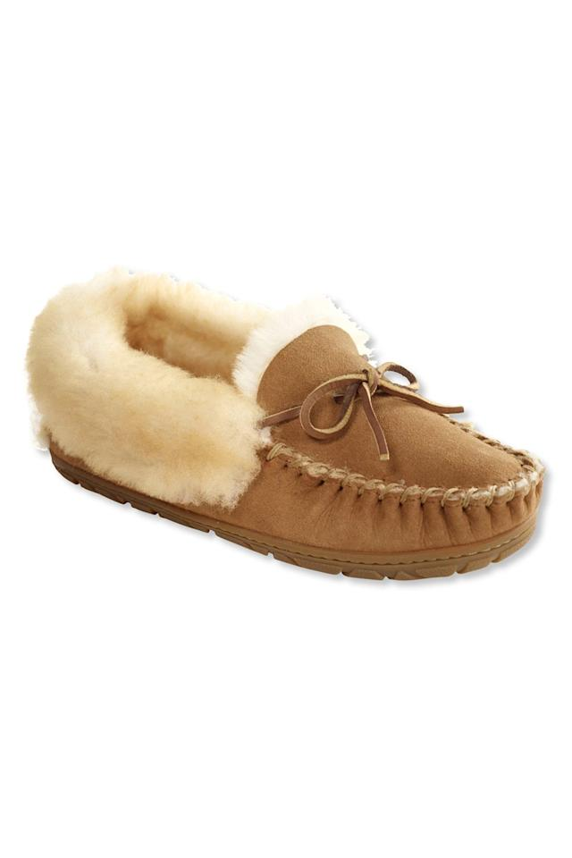 """<p>A cozier alternative to slip on, these moccasins, lined with extra soft fleece, wrap completely around your foot offering cushioned comfort with every step. Perfect for padding around the house on chilly mornings or taking a much-needed breath of crisp air on the porch.<br /><br /><strong>To buy:</strong> $69; <a href=""""http://click.linksynergy.com/fs-bin/click?id=93xLBvPhAeE&subid=0&offerid=300433.1&type=10&tmpid=12954&RD_PARM1=http%3A%2F%2Fwww.llbean.com%2Fllb%2Fshop%2F18664%3Ffeat%3D503422-GN3%2526page%3Dwomen-s-wicked-good-moccasins&u1=RSHOMEHYGGELMJAN2017"""" target=""""_blank"""">llbean.com</a>.</p>"""