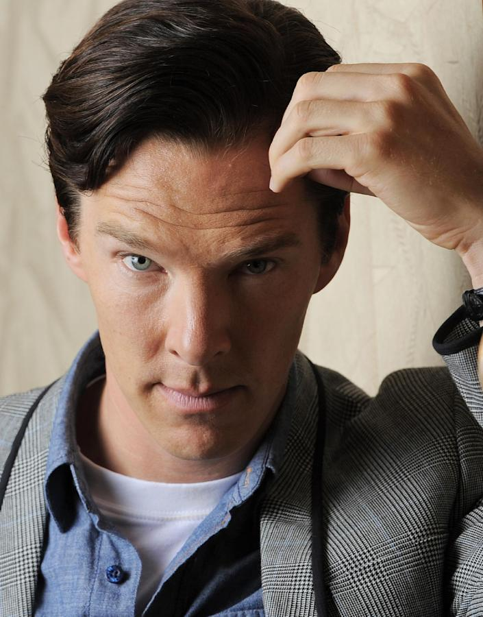 """This Sept. 8, 2013 photo shows actor Benedict Cumberbatch at the 2013 Toronto International Film Festival in Toronto. Cumberbatch stars as WikiLeaks founder Julian Assange in""""The Fifth Estate,"""" in theaters on Oct. 18. (Photo by Chris Pizzello/Invision/AP)"""