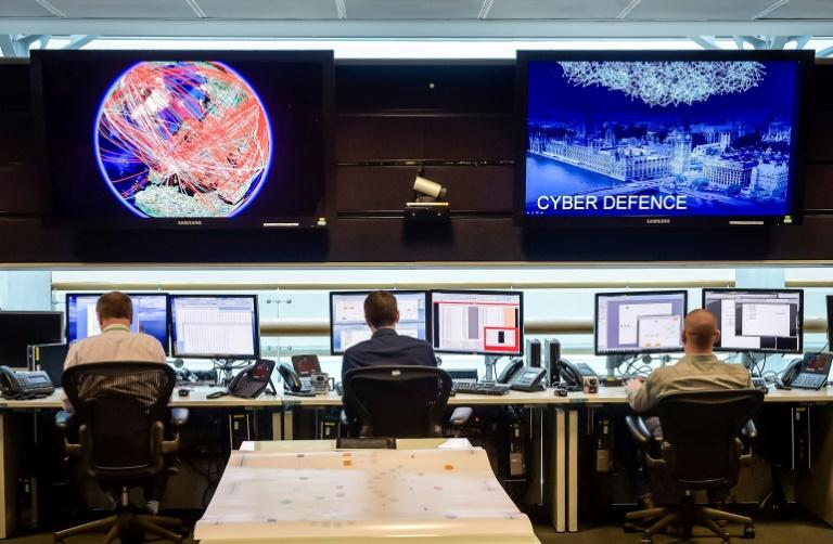 A general view of the 24 hour operations room at Britain's Government Communication Headquarters, which is one of the five Anglo-Saxon agencies that make up the 'five eyes' network