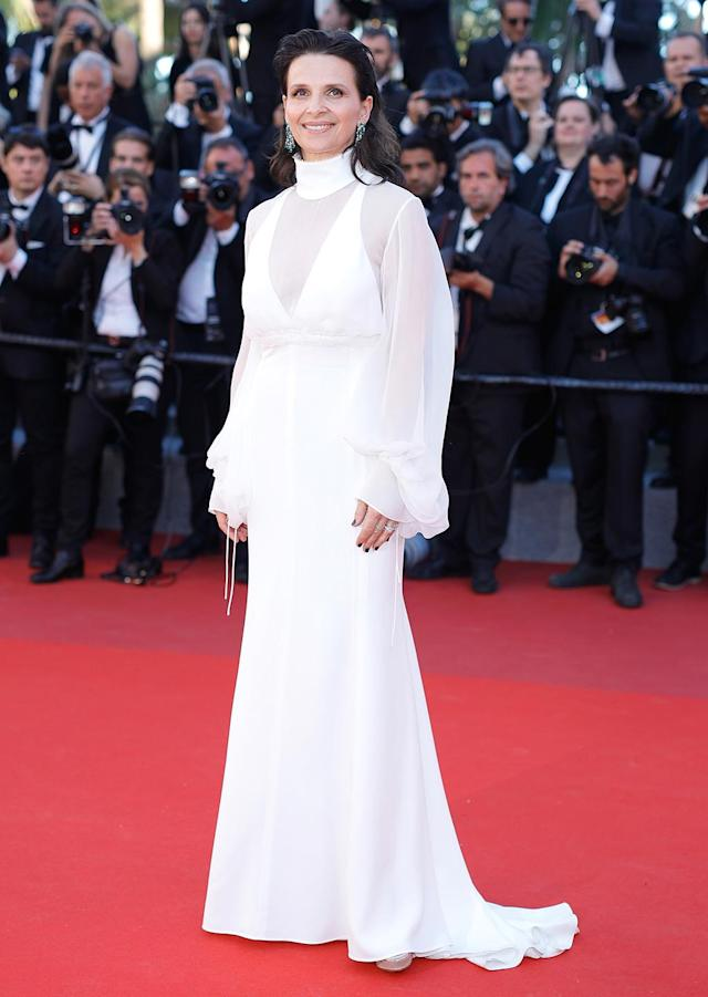 """<p>Juliette Binoche at the <a href=""""https://www.yahoo.com/movies/tagged/cannes-film-festival"""" data-ylk=""""slk:Cannes Film Festival"""" class=""""link rapid-noclick-resp"""">Cannes Film Festival</a> <a href=""""https://www.yahoo.com/movies/film/okja"""" data-ylk=""""slk:Okja"""" class=""""link rapid-noclick-resp""""><em>Okja</em></a> screening on May 19, 2017 (Photo: Andreas Rentz/Getty Images) </p>"""