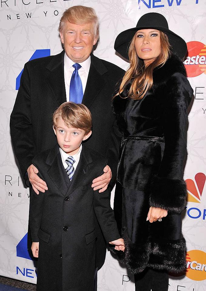 One of New York's most famous citizens -- Donald Trump -- didn't want to miss New York's most famous tree lighting, which he attended with wife Melania and their son Barron. The three also hit up the after party at the adjacent Rock Center Cafe. (11/30/2011)