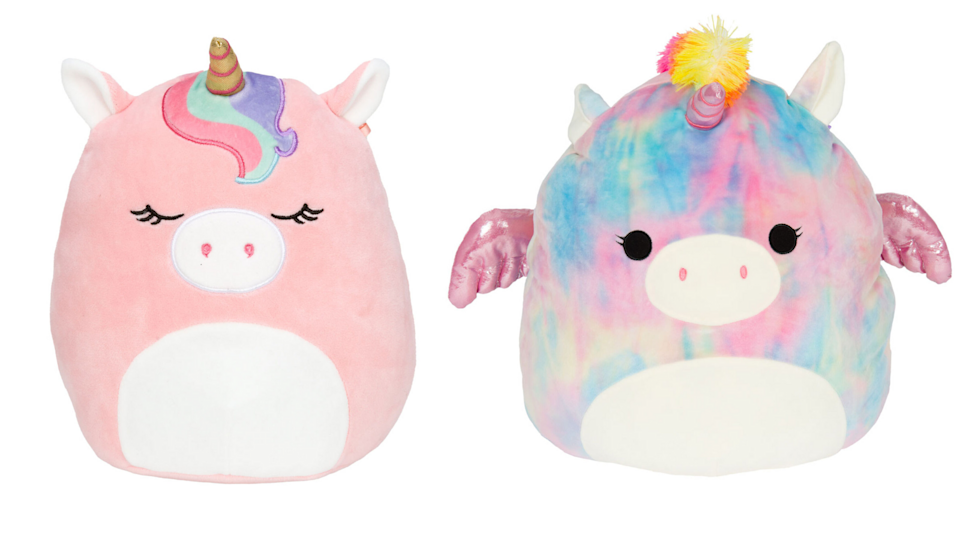 These adorable unicorns are some of the Squishmallows still available online.