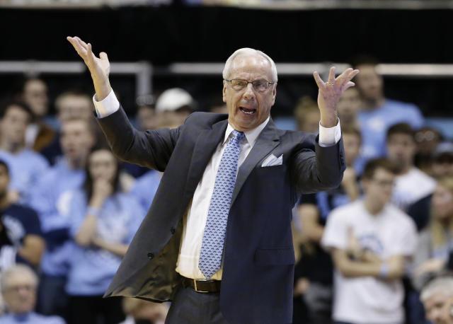 North Carolina head coach Roy Williams has had plenty of his own problems with the NCAA, notably an academic scandal on his watch. (AP)