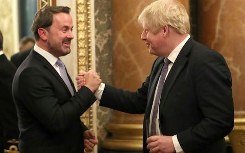 Boris Johnson and the Prime Minister of Luxembourg Xavier Bette