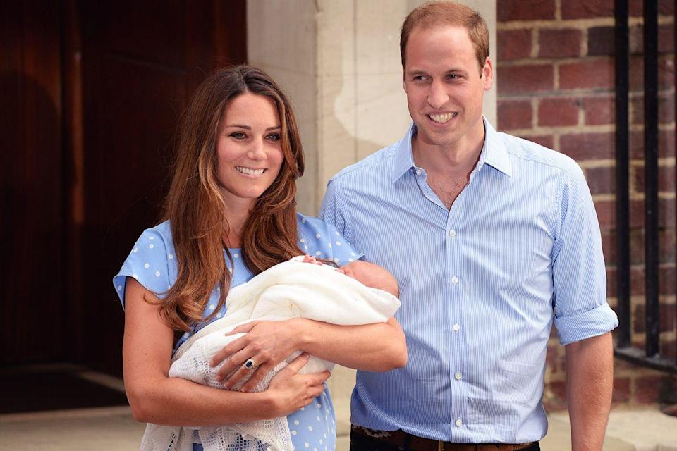 """<p>Kate Middleton <a href=""""http://www.dailymail.co.uk/femail/article-2375677/Kate-Middletons-polka-dot-dress-echoes-Princess-Dianas-green-outfit-worn-Williams-birth.html"""" rel=""""nofollow noopener"""" target=""""_blank"""" data-ylk=""""slk:mirrored"""" class=""""link rapid-noclick-resp"""">mirrored</a> a similar polka-dot dress to Princess Diana after giving birth to Prince George. It's considered a sign of respect and tribute to the late Princess. </p>"""