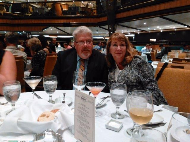 Jeffrey Eisenman and his wife, Linda, enjoying their holiday aboard the Carnival Sunshine before the passenger's fatal heart attack. (Photo: Courtesy of Ira Leesfield)