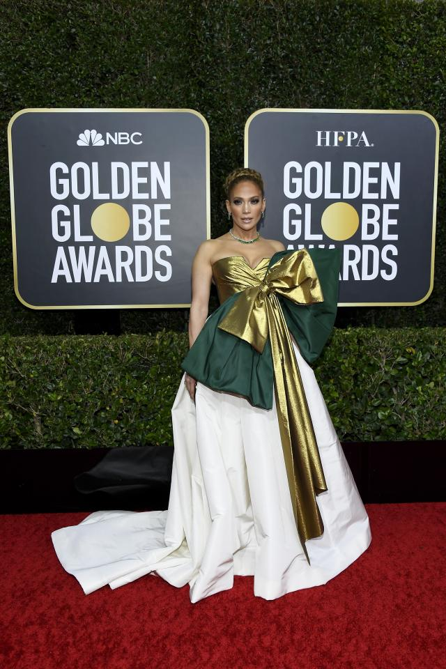 <p>The star made quite the statement for the Emmy Awards, showing up in a Valentino gown that featured a big bow.</p>