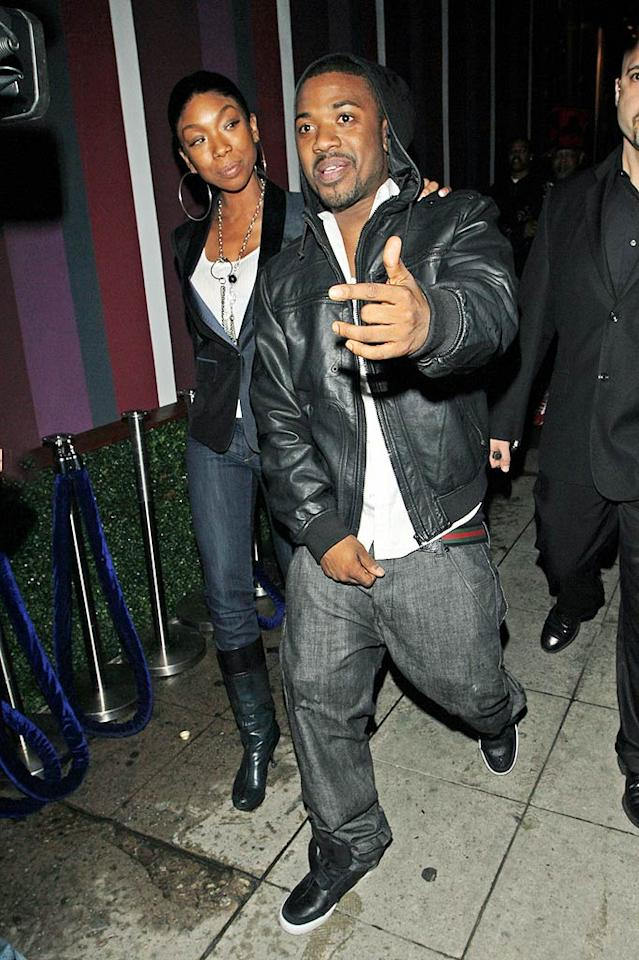 "Pop princess Brandy and her younger brother Ray J hit up Hollywood club Wonderland in honor of his 29th birthday. Hellmuth Dominguez/<a href=""http://www.pacificcoastnews.com/"" target=""new"">PacificCoastNews.com</a> - January 20, 2010"