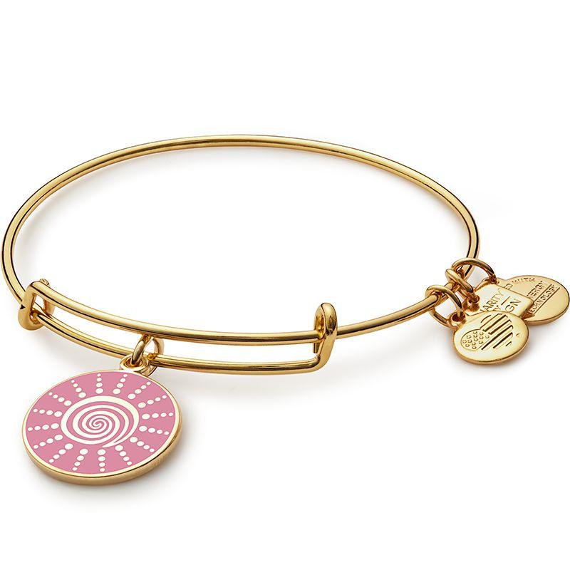 """ALEX AND ANI will donate 20% of the purchase price from each Spiral Sun Charm sold, with a minimum donation of $25,000, between January 2017 and December 2017 tothe Breast Cancer Research Foundation. Get it <a href=""""https://www.alexandani.com/spiral-sun-charm-bangle-yellow-gold.html"""" target=""""_blank""""><strong>here</strong></a>."""