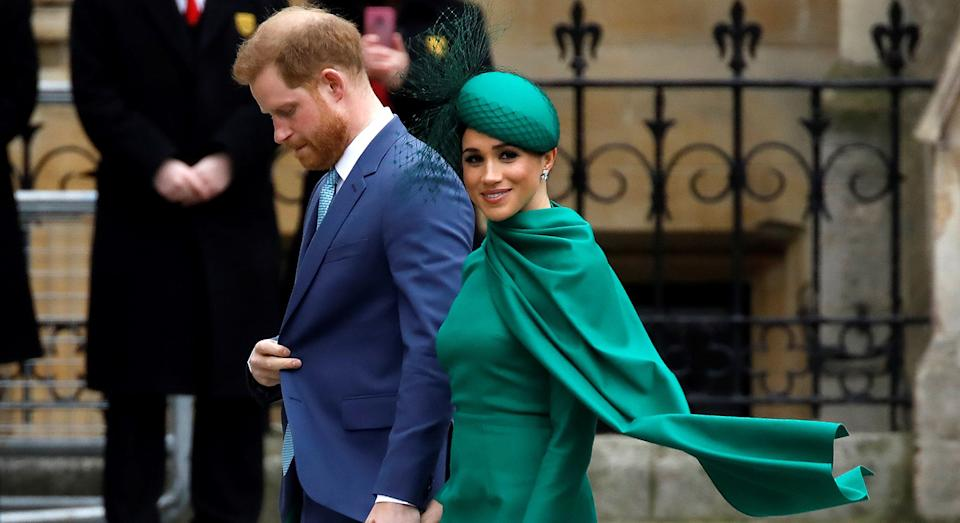 The Duke and Duchess of Sussex attended the annual Commonwealth Service on Monday afternoon. (Getty Images)