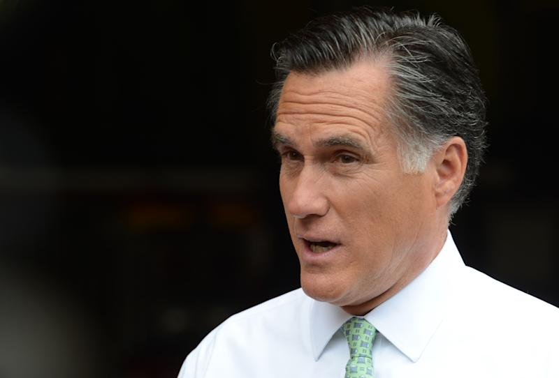 FILE - In this May 1, 2012 file photo, Republican presidential candidate, former Massachusetts Gov. Mitt Romney speaks in New York. Romney says he wanted an openly gay spokesman who resigned from the campaign to stay on. (AP Photo/Henny Ray Abrams, File)