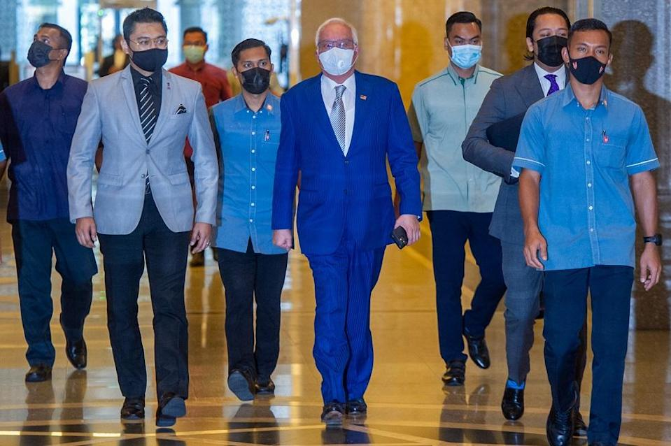 Datuk V Sithambaram said Datuk Seri Najib Razak had attempted to qualify and limit DW3's clear and unequivocal evidence as stated because Irwan's testimony revealed the truth of how GGs are considered and approved by the MOF in normal cases. — Picture by Shafwan Zaidon