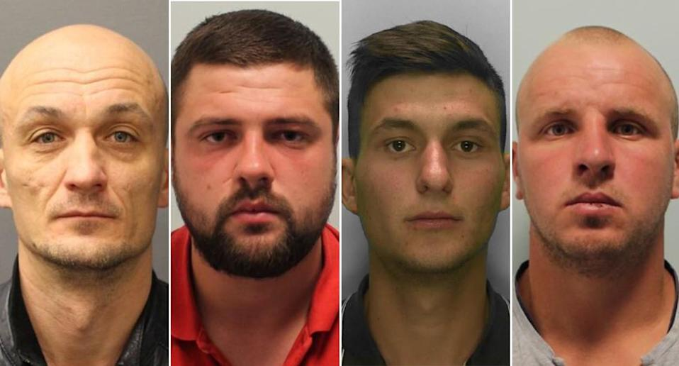 Four men have been jailed for more than 71 years for raping a woman for 90 minutes after meeting her in a nightclub. (Met Police)