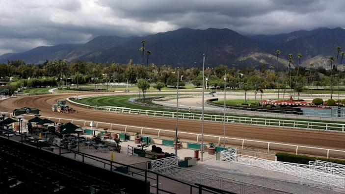 ARCADIA, CA-MARCH 7, 2019: The Santa Anita Track is under examination after 21 horses die in 10 weeks on March 7, 2019, in Arcadia, California. (Photo By Dania Maxwell / Los Angeles Times)
