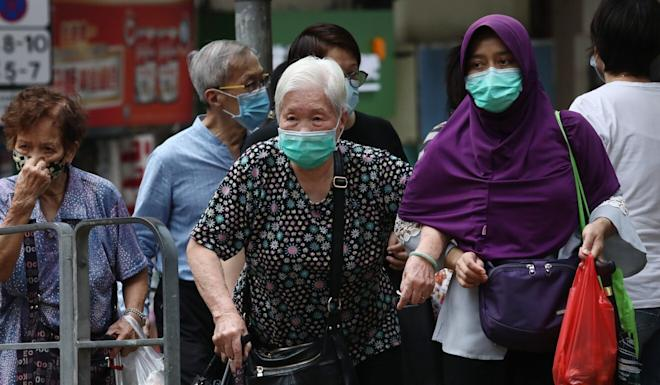 Patients in Hong Kong's first wave of the coronavirus earlier this year were mostly the elderly. Photo: Jonathan Wong