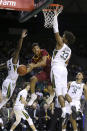 Iowa State guard Rasir Bolton (45) passes the ball between Baylor guard Davion Mitchell (45) and forward Freddie Gillespie (33) during the first half of an NCAA college basketball game Wednesday Jan. 15, 2020, in Waco, Texas. (AP Photo/Jerry Larson)