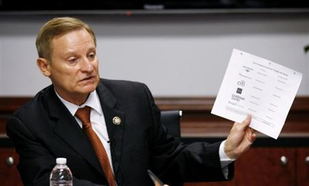 House Financial Services Committee ranking member Spencer Bachus (R-AL) speaks during the Reuters Washington Summit