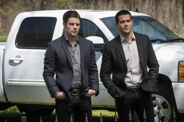 "Josh Henderson and Jesse Metcalfe in the ""Dallas"" Season 2 episode, ""Legacies."""