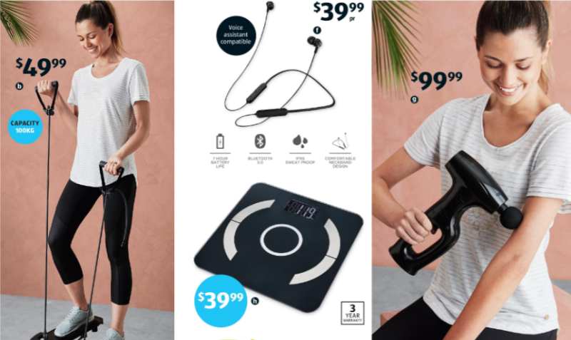 Aldi fitness gear on sale as Special Buys.