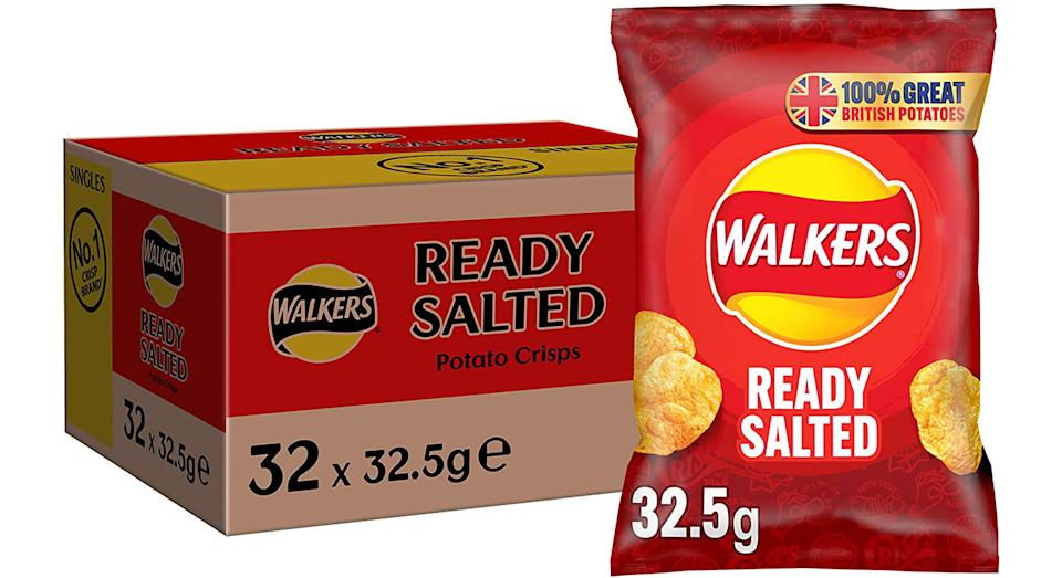 Walkers Ready Salted Crisps Box