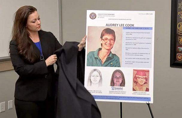 PHOTO: Investigators in Texas identified a body found on Calder Road in League City on Feb. 2, 1986 as Audrey Lee Cook, who was believed to be about 30 years old at the time of her death. (KTRK)