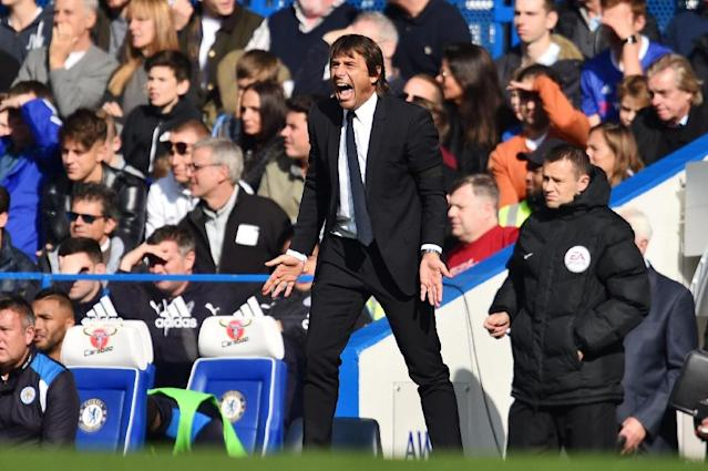 Chelsea's victory over Leicester at Stamford Bridge on Octover 15, 2016, gave Antonio Conte a much needed win (AFP Photo/Glyn Kirk)