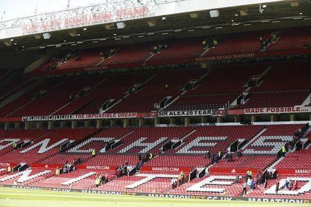 General view as sections of the stadium are evacuated before the match. Manchester United v AFC Bournemouth - Barclays Premier League - Old Trafford - 15/5/16. Reuters / Andrew Yates Livepic