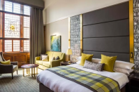 """<p>Once the childhood home of the first Scottish-born Prime Minister, Sir Henry Campbell-Bannerman, this three-storey Georgian townhouse is every bit as commanding as you would expect. </p><p>The only difference? The building now welcomes one and all as a revamped, city-centre boutique hotel, <a href=""""https://go.redirectingat.com?id=127X1599956&url=https%3A%2F%2Fwww.booking.com%2Fhotel%2Fgb%2Fthearthousehotel.en-gb.html%3Faid%3D1922306%26label%3Dbest-hotels-scotland&sref=https%3A%2F%2Fwww.goodhousekeeping.com%2Fuk%2Flifestyle%2Ftravel%2Fg35120921%2Fbest-hotels-in-scotland%2F"""" rel=""""nofollow noopener"""" target=""""_blank"""" data-ylk=""""slk:ABode"""" class=""""link rapid-noclick-resp"""">ABode</a> - a perfect mid-range option.</p><p>Expect oversized windows - some with stained-glass emblems in them - high ceilings and notes of tartan dotted throughout to remind guests of just where they are. </p><p><a class=""""link rapid-noclick-resp"""" href=""""https://go.redirectingat.com?id=127X1599956&url=https%3A%2F%2Fwww.booking.com%2Fhotel%2Fgb%2Fthearthousehotel.en-gb.html%3Faid%3D1922306%26label%3Dbest-hotels-scotland&sref=https%3A%2F%2Fwww.goodhousekeeping.com%2Fuk%2Flifestyle%2Ftravel%2Fg35120921%2Fbest-hotels-in-scotland%2F"""" rel=""""nofollow noopener"""" target=""""_blank"""" data-ylk=""""slk:CHECK AVAILABILITY"""">CHECK AVAILABILITY</a></p>"""