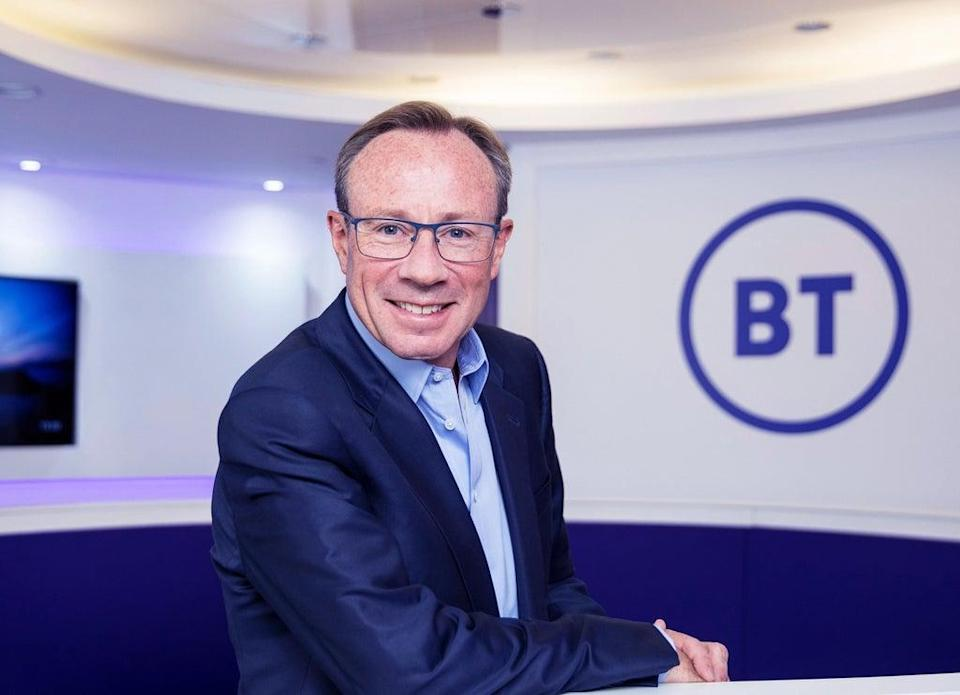 BT boss Philip Jansen will now report into Adam Crozier, as the new chairman of the group (BT/PA) (PA Media)