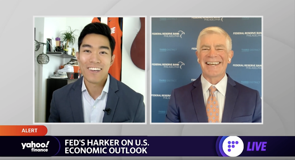 Federal Reserve Bank of Philadelphia President Patrick Harker joins Yahoo Finance in a live interview on Aug. 27, 2021.