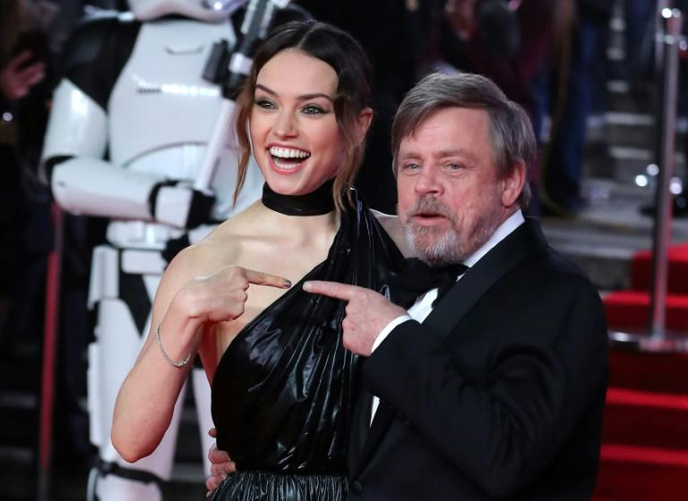 Daisy Ridley and Mark Hamill, seen earlier this month at the European premiere of 'Star Wars: The Last Jedi,' a film that Disney says has surpassed the $1 billion mark