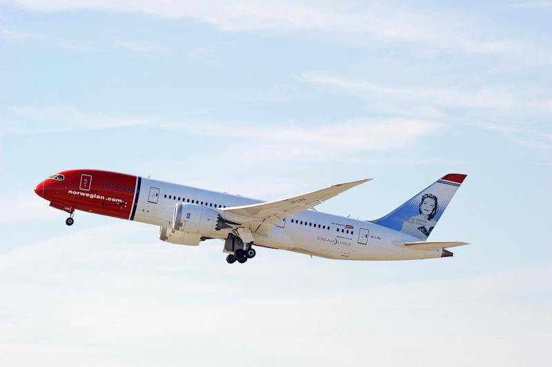 Record breaker: The Norwegian Airlines flight touched down 53 minutes earlier than expected: Shutterstock / Philip Pilosian