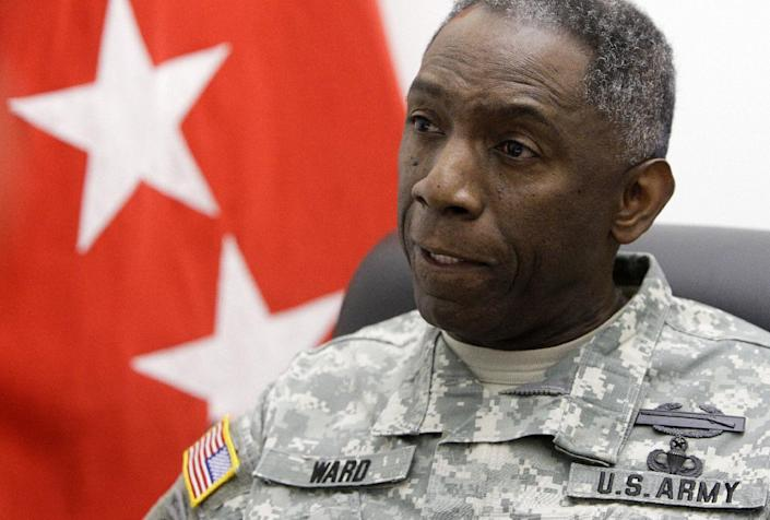 """FILE - In this March 23, 2009, file photo, Army Gen. William """"Kip"""" Ward, Commander, United States Africa Command, speaks with The Associated Press during an interview at the Pentagon. The number of U.S. soldiers forced out of the Army because of bad conduct or crimes has soared in the last several years, as the military comes out of a decade of war that put a greater focus on battle competence than character. Data obtained by The Associated Press shows that the number of officers who left the Army due to misconduct tripled in the last three years. And the number of enlisted soldiers forced out for drug, alcohol, crimes and other misconduct shot up from about 5,600 in 2007 as the Iraq war peaked, to more than 11,000 last year. (AP Photo/Haraz N. Ghanbari, File)"""