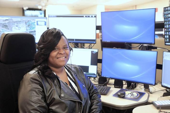 Telatha Graham of Chester is a Chester County 911 dispatcher.