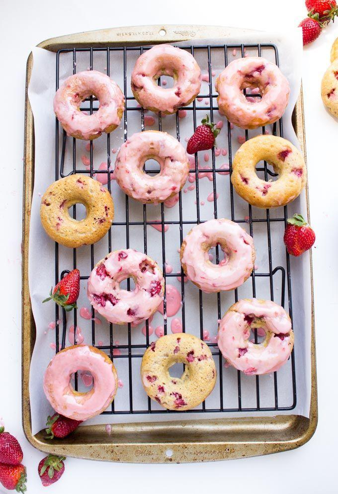 """<p>Celebrate strawberry season with insanely delicious (and pretty) donuts.</p><p>Get the recipe from <a href=""""http://www.littlebroken.com/2015/04/17/strawberry-buttermilk-baked-donuts-with-strawberry-glaze/"""" rel=""""nofollow noopener"""" target=""""_blank"""" data-ylk=""""slk:Little Broken"""" class=""""link rapid-noclick-resp"""">Little Broken</a>.</p>"""