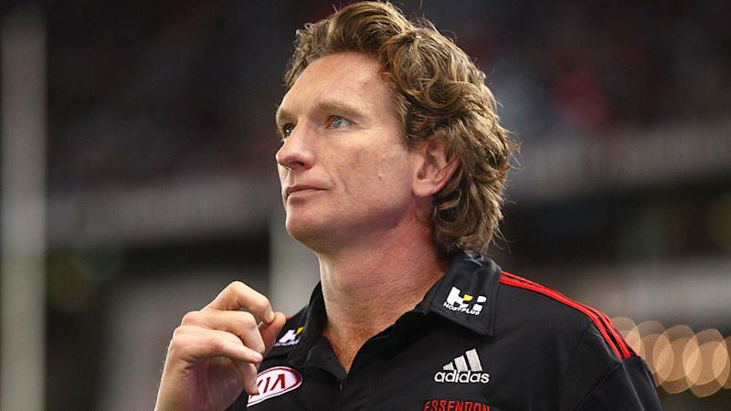 Pictured here, James Hird during his Essendon coaching days.