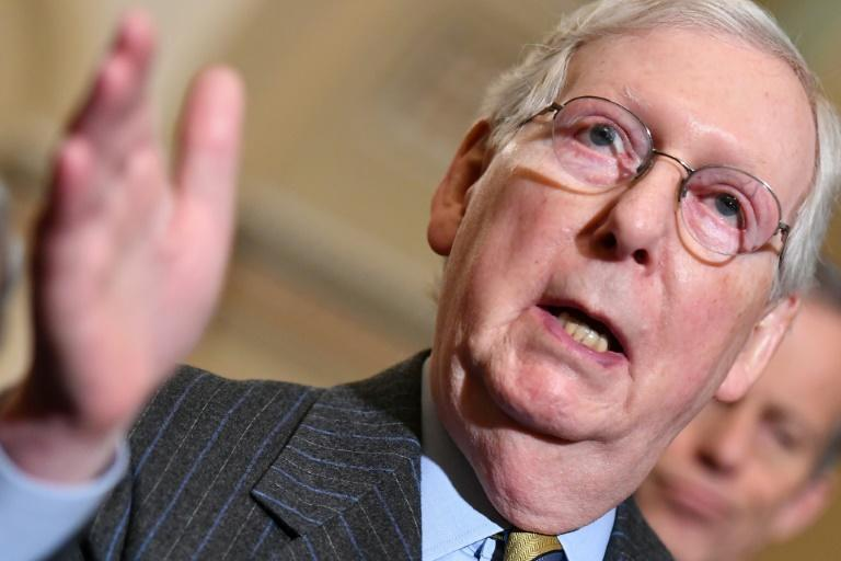 Republican Senate Majority Leader Mitch McConnell will call the shots at President Donald Trump's impeachment trial (AFP Photo/Mandel NGAN)
