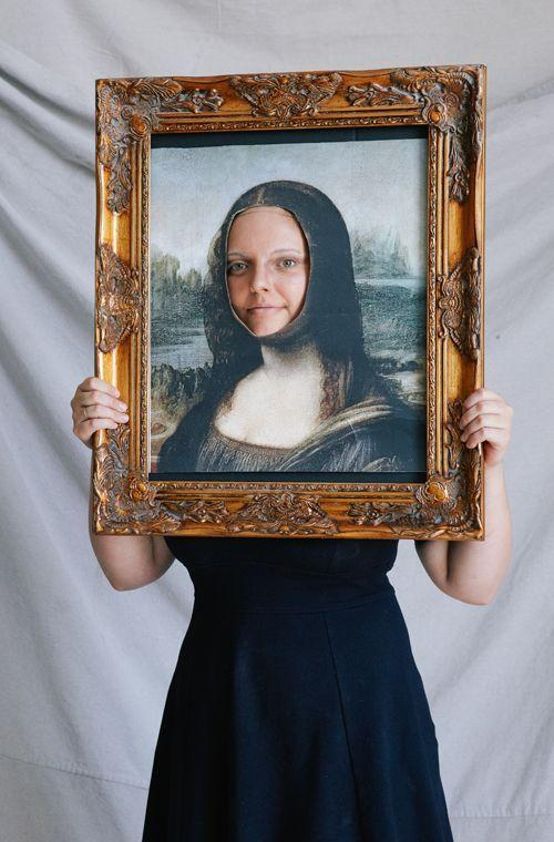 """<p>Practice your mysterious smile before """"wearing"""" this easy, last-minute costume.</p><p><strong>Get the tutorial at <a href=""""https://thehousethatlarsbuilt.com/2014/10/mona-lisa-halloween-costume.html/"""" rel=""""nofollow noopener"""" target=""""_blank"""" data-ylk=""""slk:The House That Lars Built"""" class=""""link rapid-noclick-resp"""">The House That Lars Built</a>.</strong></p><p><a class=""""link rapid-noclick-resp"""" href=""""https://www.amazon.com/gp/product/B00725OHJQ/ref=as_li_tl?tag=syn-yahoo-20&ascsubtag=%5Bartid%7C10050.g.4571%5Bsrc%7Cyahoo-us"""" rel=""""nofollow noopener"""" target=""""_blank"""" data-ylk=""""slk:SHOP MONA LISA POSTERS"""">SHOP MONA LISA POSTERS</a><br></p>"""