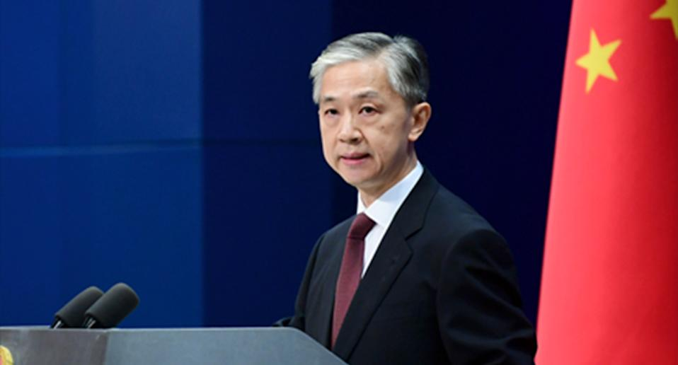 Wang Wenbin told reporters China opposes Australia's position on the South China Sea. Source: FMPRC