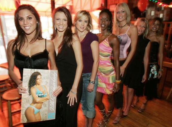 Reports claim Wes Welker of the New England Patriots is engaged to former Miss Hooters International, Anna Burns, shown here in 2006.