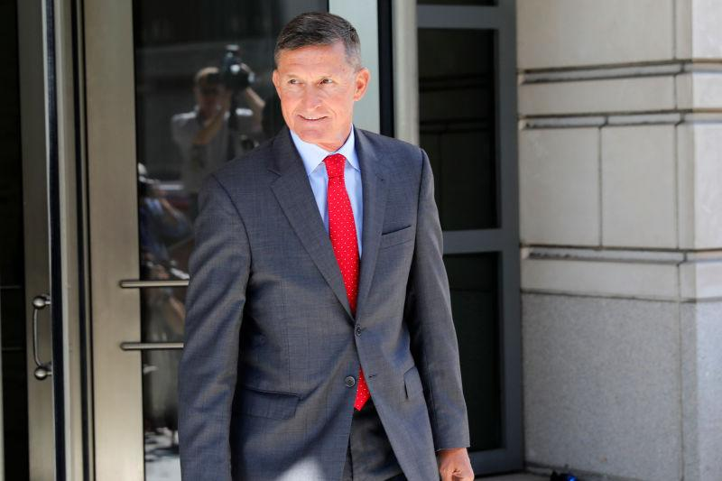 Michael Flynn, former National Security Adviser to President Donald Trump, departs the E. Barrett Prettyman United States Courthouse following a pre-sentencing hearing July 10, 2018 in Washington, DC.